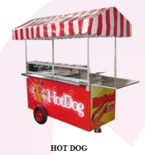 Carro de perritos calientes